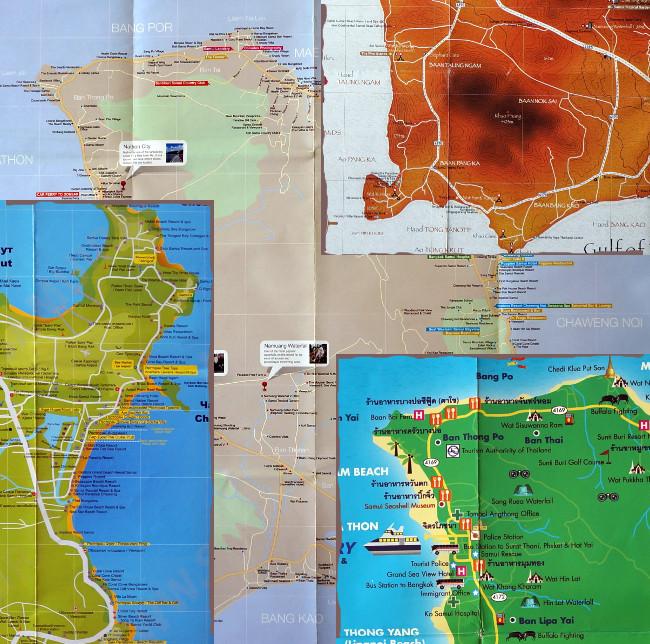 карты самуи в высоком разрешении для бесплатной загрузки - free samui map download