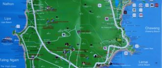 Samui touristic map - туристическая карта Самуи