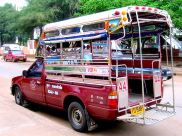 Сонгтэо - маршрутное такси на Самуи - Songthaew